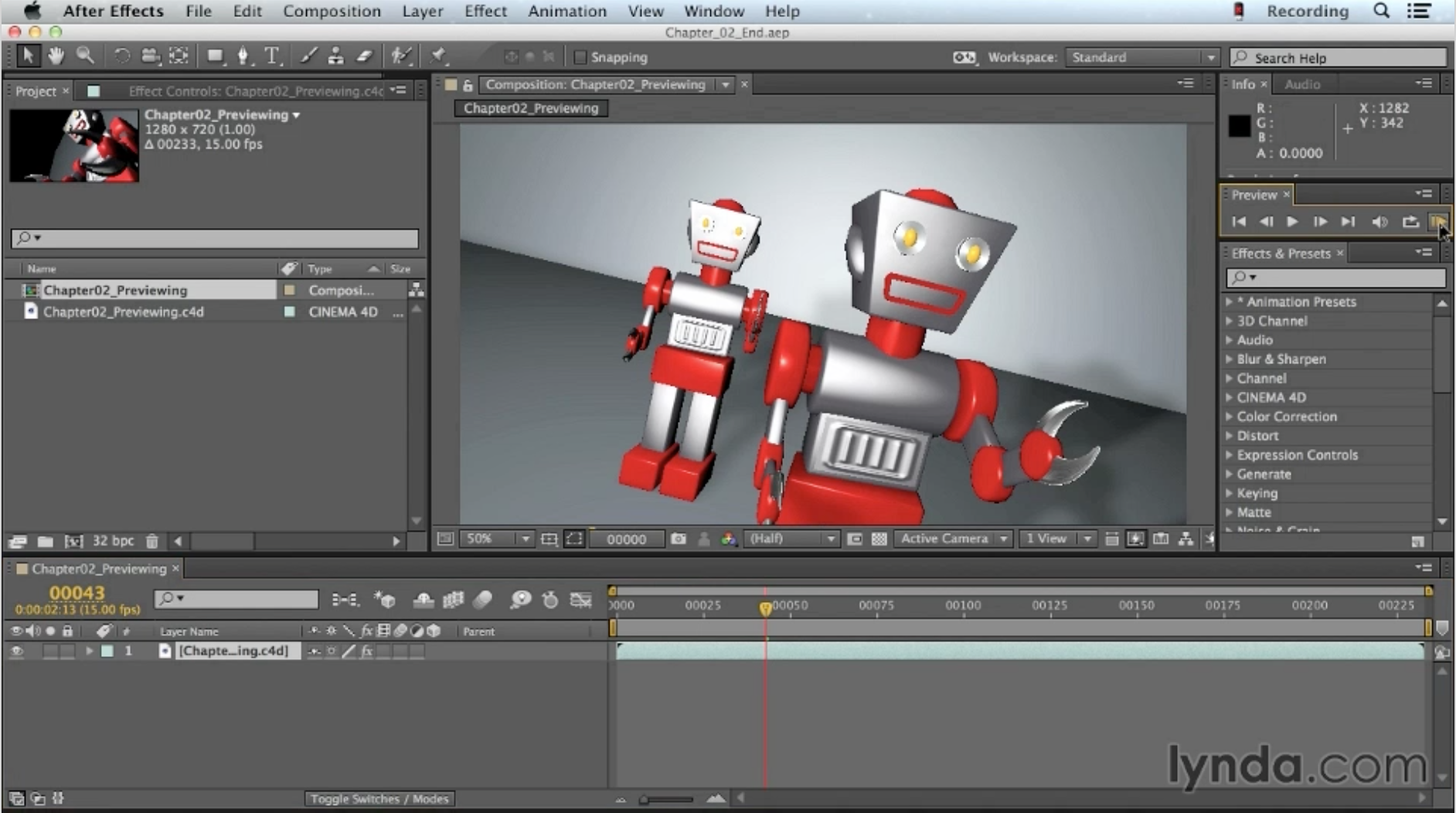 Cinema 4D training in Brighton for After Effects users